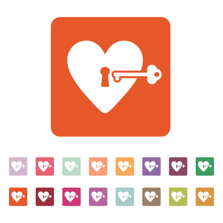 secret love: The heart and key icon.