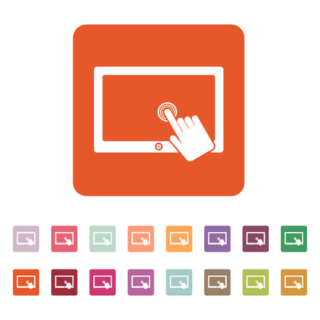 touch: The touch screen icon