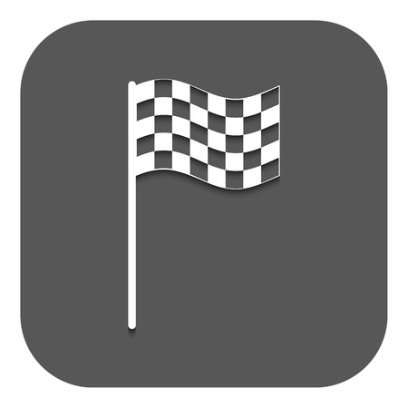 carting: The checkered flag icon Illustration