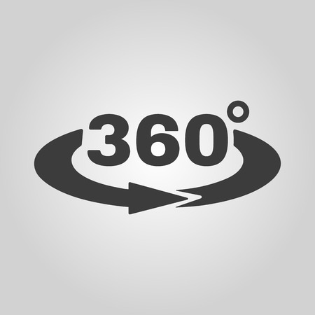 The Angle 360 degrees icon