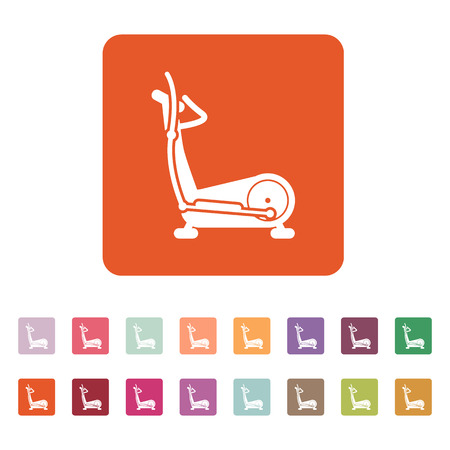 elliptical: The elliptical trainer icon Illustration