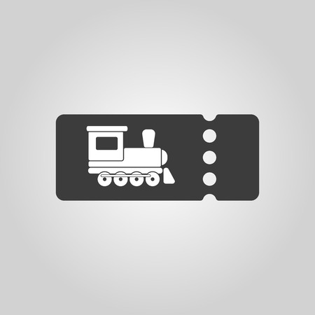 intercity: The blank train ticket icon
