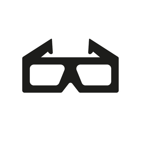 anaglyph: The 3d glasses icon