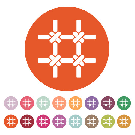 incarceration: El icono de barras de la prisi�n. S�mbolo de cuadr�cula. Ilustraci�n vectorial Flat. Bot�n Set Vectores