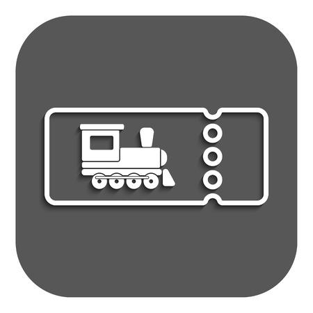 train ticket: The blank train ticket icon. Travel symbol. Flat Vector illustration. Button Illustration