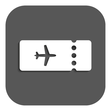 The blank ticket plane icon