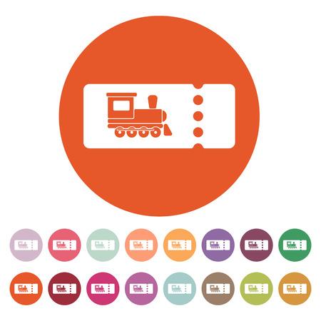 train ticket: The blank train ticket icon