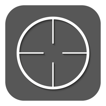 sharpshooter: The crosshair icon Illustration