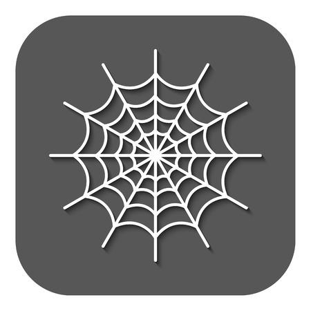 spiderweb: The spiderweb icon Illustration