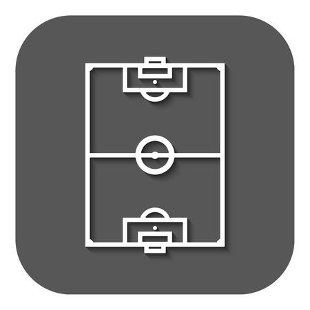 soccer field: The soccer field icon