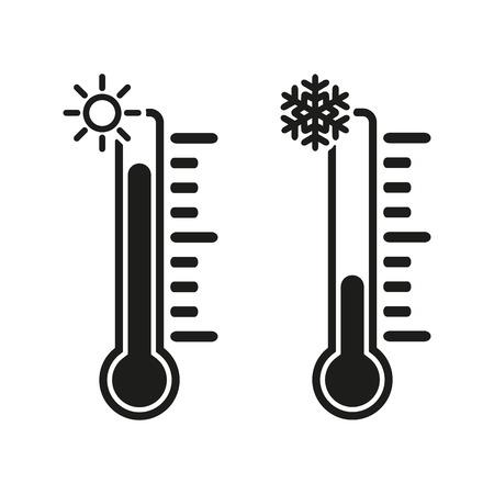 Ikona termometr Ilustracje wektorowe