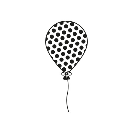 lightweight: The balloon icon. Holiday symbol. Flat Vector illustration Illustration