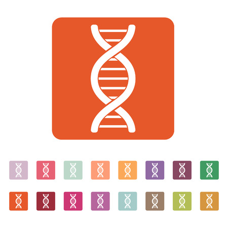 genetic: The dna icon. Genetic symbol. Flat Vector illustration. Button Set