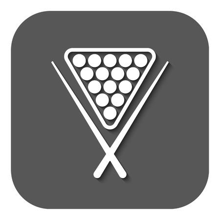 billiards rooms: The billiard icon. Game symbol. Flat Vector illustration. Button Illustration
