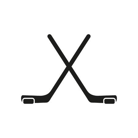 The hockey icon. Game symbol. Flat Vector illustration