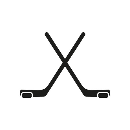 The hockey icon. Game symbol. Flat Vector illustration