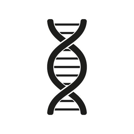 DNA의 아이콘입니다. 유전자 기호입니다. 평면 벡터 일러스트 레이 션 일러스트