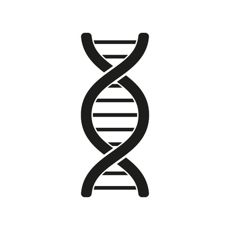 The dna icon. Genetic symbol. Flat Vector illustration