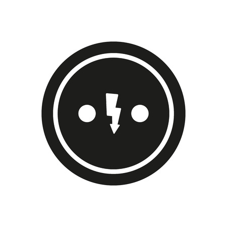 electrical plug: The Electrical Outlet icon. Socket symbol. Flat Vector illustration