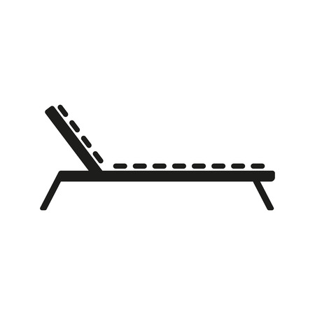lounger: The lounger icon. Sunbed symbol. Flat Vector illustration Illustration