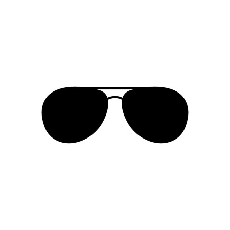 sunglasses reflection: The sunglasses icon. Glasses symbol. Flat Vector illustration