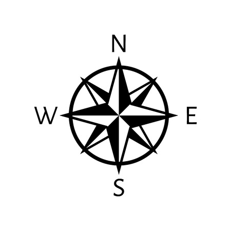 compass vector: The compass icon. Navigation symbol. Flat Vector illustration Illustration