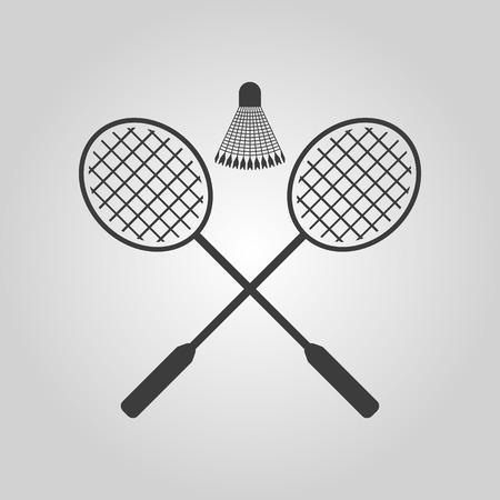 badminton sport symbol: The badminton icon. Sport symbol. Flat Vector illustration Illustration