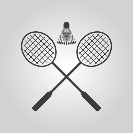 badminton: The badminton icon. Sport symbol. Flat Vector illustration Illustration