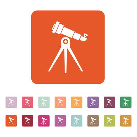 spyglass: The telescope icon. Spyglass symbol. Flat Vector illustration. Button Set