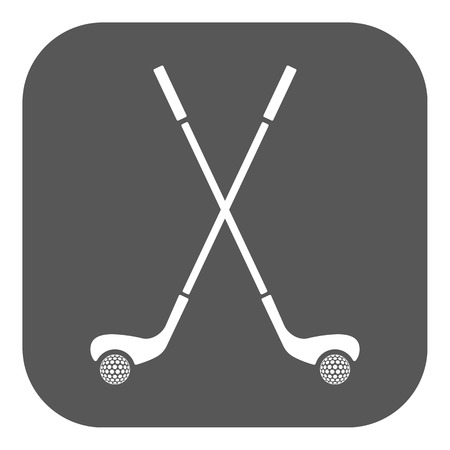 golf club: The golf icon. Sport symbol. Flat Vector illustration. Button