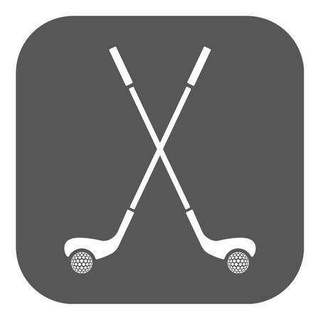 golf club: The golf icon. Sport symbol. Flat Vector illustration. Button
