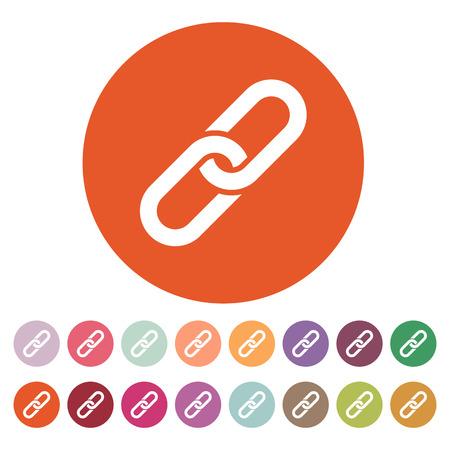 linked: The link icon. Linked symbol. Flat Vector illustration. Button Set