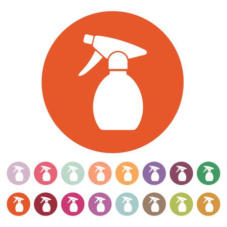 atomizer: The sprayer icon. Atomizer symbol. Flat Vector illustration. Button Set Illustration