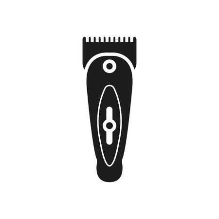 rasoio: L'icona hairclipper. Simbolo Shaver. Appartamento vettore
