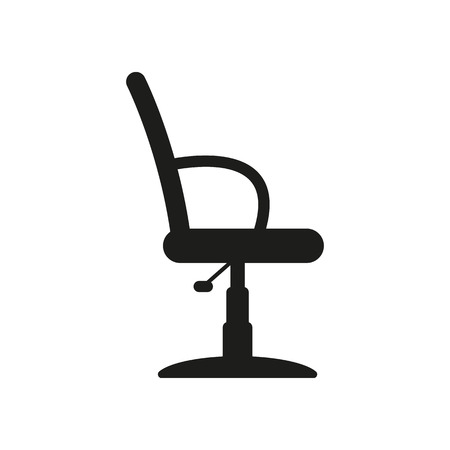 The Barber Chair Icon Armchair Symbol Flat Vector Illustration