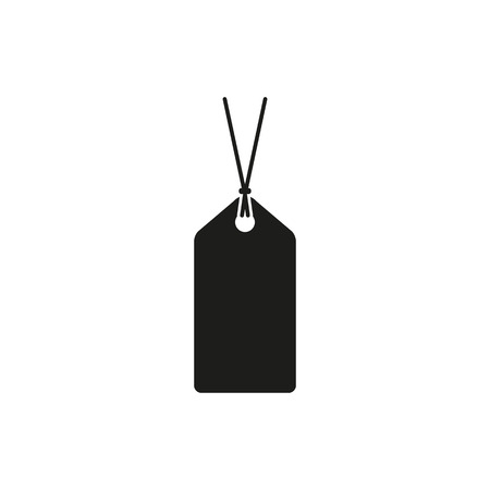 price label: The price tag icon. Label symbol. Flat Vector illustration