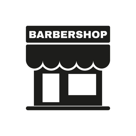 barbershop: The barbershop building icon. Barbershop symbol. Flat Vector illustration