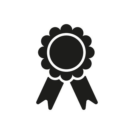 The award icon. Achievement symbol. Flat Vector illustration Ilustracja