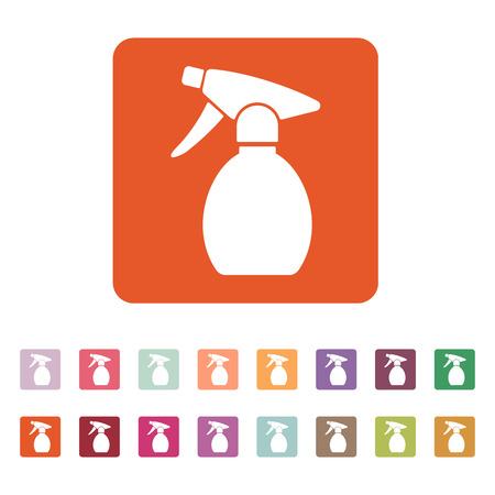 pulverizer: The sprayer icon. Atomizer symbol. Flat Vector illustration. Button Set Illustration