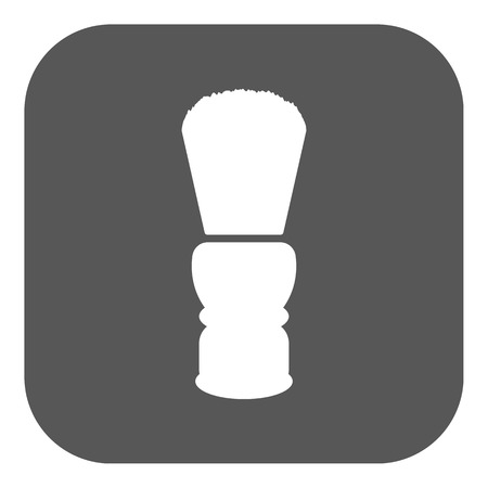 shaving brush: The shaving brush icon. Shaver symbol. Flat Vector illustration. Button