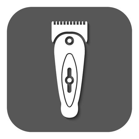 shaver: The hairclipper icon. Shaver symbol. Flat Vector illustration. Button