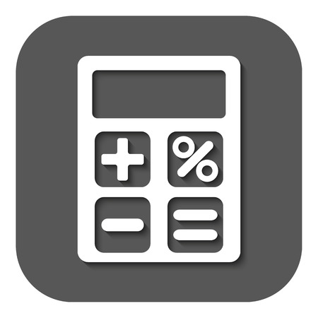 accounting design: The calculator icon. Accounting symbol. Flat Vector illustration. Button
