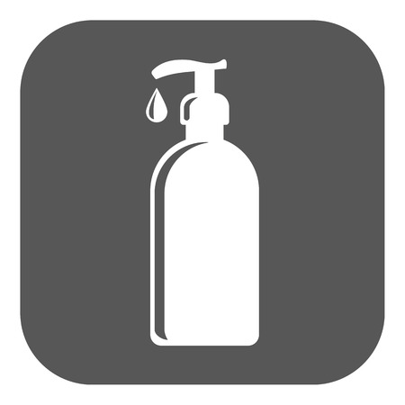The Liquid Soap, Lotion, Cream, Shampoo icon. Shower Gel symbol. Flat Vector illustration Button Vectores