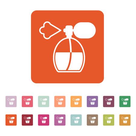 sprayer: The perfume icon. sprayer symbol. Flat Vector illustration. Button Set Illustration