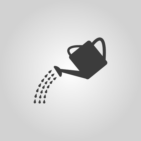 The watering can icon. Irrigation symbol. Flat Vector illustration Vettoriali