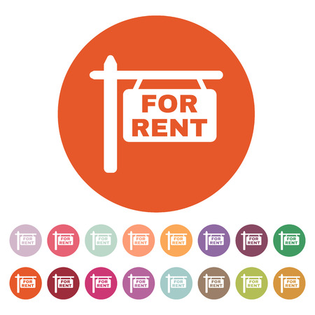 The for rent icon. Rent symbol. Flat Vector illustration. Button Set Vector