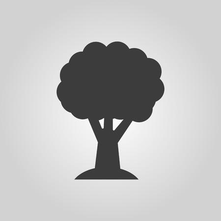 The tree icon. Nature symbol. Flat Vector illustration