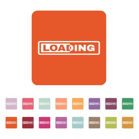 preloader: The loading icon. preloader symbol. Flat Vector illustration. Button Set