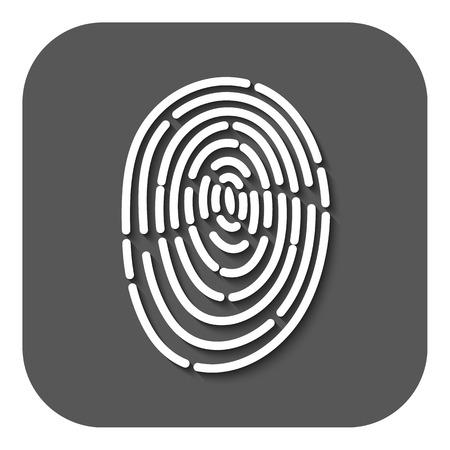 fingermark: The fingerprint icon. ID symbol. Flat Vector illustration. Button