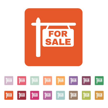 The for sale icon. Sale symbol. Flat Vector illustration. Button Set Vector